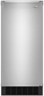 "Whirlpool - 15"" 50-Lb. Built-In Icemaker - Stainless-Steel"