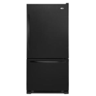 Amana 18.5 cu. ft. Single Door Bottom Freezer Refrigerator - Black