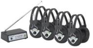 Hamilton Multi Wireless Listening Center with 4 Headphones and Headphone Rack...