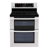 LG Large Capacity oven, with a 6 -high upper oven.