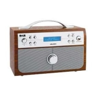 Bush Wood Effect DAB/FM Stereo Radio with Alarm Clock