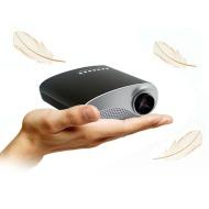 Excelvan Mini Portable LED/LCD Projector Home Cinema Theater PC Laptop VGA USB AV HDMI Black