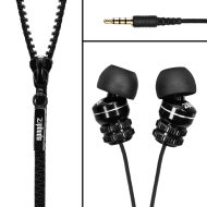 Zipbuds By DGA : Tangle-Resistant Earbuds (Black with Black)