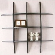 CURVE - Wall Mounted Storage / Display Shelves - Black
