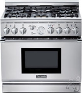 "PRG366GH Pro Harmony 36"" Pro-Style Gas Range with 5.0 cu. ft. Convection Oven Full Access Tele"