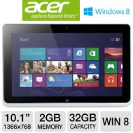 "Acer ICONIA W510-1666 10.1"" Tablet - Intel Atom Dual-Core Processor Z2760"