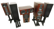 Aerial Acoustics LR5, CC5, LR3, SW12 surround speaker system