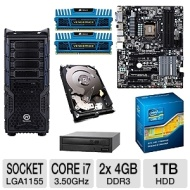 Z68X-UD3H-B3 Overseer Barebones Kit - GIGABYTE Z68X-UD3H-B3 Board Intel Core i7-2700K CPU New