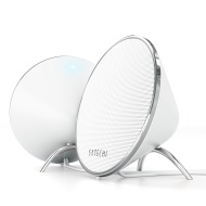 Satechi Dual Sonic Conical v2.0 Computer Speakers (White) for Apple Macbook Pro , Air / Asus / Acer / Samsung / Dell/ Toshiba / HP / Sony Vaio and Mor