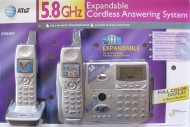 AT&T E5862 5.8 GHz Twin 1-Line Cordless Phone