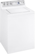 GE WHRE5550KWW White Energy Star 4.1 cu. ft. Colossal Capacity High-Efficiency Washer with 22 Cycles, HydroWave Wash System, RainShower Rinse, Stainle