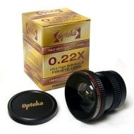 Opteka .22x Fisheye Lens For Panasonic Lumix DMC-FZ18K and DMC-F18S Digital Camera