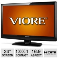 Viore LC24VXF60PB 24 Class LCD HDTV - 1080p, 1920 x 1080, 16:9, 6.5 ms, 10000:1, HDMI, VGA (Refurbished)