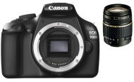+ Canon EOS 1100D - Digitale camera - SLR - 12.0 Mpix - Canon EF-S 18-55mm IS II-lens - optische zoom: 3 x + Expert Shot Digital rugzak - zwart/oranje