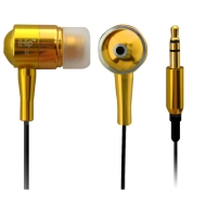 iHip IP-EPS41-G Gold Metal Noise Reducing Earphones