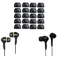 iTechCover Replacement Silicone In Earphones EarBuds For Skullcandy, Sony, Sennheiser, Panasonic, Sharp, Creative, Phillips & Many More / Medium Size