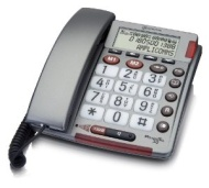 Amplicomms Powertel 30 Amplified Big Button Corded Telephone - Silver