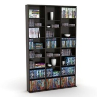 Atlantic 38435683 Oskar 756 Media Storage Cabinet (Espresso)