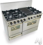 : 48'' Pro-Style Natural Gas Range with 6 Sealed Ultra High-Low Burners 2.92 cu. ft