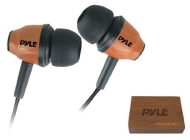 PYLE PIEHWD80LT Woodbud Real Wood In-Ear Earbud Stereo Headphones (Light Wood)