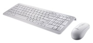 Perixx PERIDUO-303W UK, Wired Compact Keyboard and Mouse Set - USB - Piano White Design - Stylish Chiclet Key Top Design - 7 Multimedia Keys - UK Engl