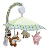 Trend Lab Baby Barnyard Mobile - Blue/Green - Trend Lab