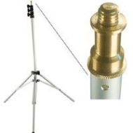 "Adorama 7.5' Chrome Kit Light Stand with 3/8"" Stud, 3 Section with 2 Risers."