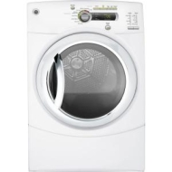 GE GTDP490EDWS 7.0 Cu. Ft. 13-Cycle Electric Dryer - White-on-White