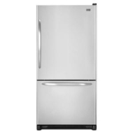 Maytag 21.9 cu. ft. Single-Door Bottom-Freezer Refrigerator - Left Swing Door - Stainless Steel