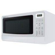 Sharp R-410LW Carousel 1-2/5-Cubic-Foot Family-Size Microwave Oven, White