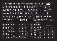 Large print keyboard stickers - white on black