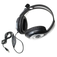 New USB Interface Computer PC Laptop Notebook Stereo Headphone Headset with Mic