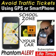 PhantomALERT Lifetime Download Subscription (compatible with iPhone, Android, Garmin, TomTom & Magellan)