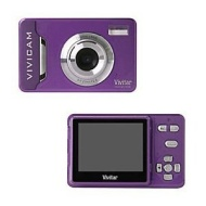 "Vivitar ViviCam 9126 Purple (9.1 Mega Pixels, 4x Digital Zoom, 2.4"" Preview Screen, Auto Flash)"