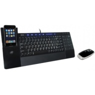 iConnectT IH-K235LB Media Keyboard & Wireless Laser Mouse for PC Refurbished