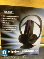 8 in 1 Wireless Headphone SF-880 For Laptop, Desktop, VOIP, Chat, Skype, MSN, TV, Games, CD, VCD, DVD, MP3, MP4