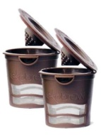 Ekobrew Cup, Refillable Cup for Keurig K-cup Brewer, Brown 2-count
