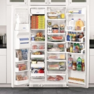 Whirlpool 24.5 cu. ft. Stainless Steel Side-By-Side Freezer Refrigerator