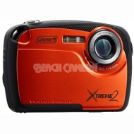 "Coleman 16MP Waterproof Digital Camera with 2.5"" LCD Screen HD Video (Orange) C12WP-O"