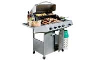 4 Burner Stainless Steel Gas BBQ