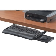 """Fellowes"" ""Fellowes  Deluxe Keyboard Drawer W/Soft touch Wrist Rest"""
