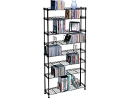 Atlantic - 8-Tier Adjustable Multimedia Shelf - Black 3020
