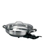 Deni Round Stainless Steel Electric Skill, 12-Inch