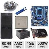 AMD FX-6100 OEM 3.30 GHz AM3+ Unlocked CPU/Gigabyte AM3+ 760G USB3.0 MB/XFX Radeon HD 6570 1GB GDDR3 Video Card/ADATA 4GB DDR3 Memory/Ultra Gladiator
