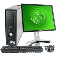 Dell OptiPlex 755 19-Inch LCD monitor (2.0 GHz Intel Dual-Core CPU, 4GB DDR2, 160GB HDD, Windows 7 Home Premium) Black/Silver