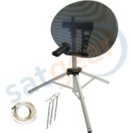 Netgadgets Portable 43cm Mini Dish Satellite Kit without Satfinder