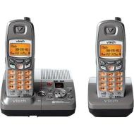 V-Tech 5.8 GHz Two Handset Grey/Silver Cordless Phone System with Digital Answering Device and Caller ID (VT6870)