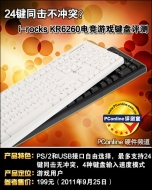 I-Rocks 24 KEYS ANTI GHOSTING GAMING WIRED KEYBOARD Black
