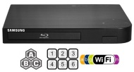 "SAMSUNG BDF-5700 (Compact 12W"" x 2H"" x 8D"") WI-FI All Zone Multi Region DVD Blu ray Player - 100~240V 50/60Hz, 1 USB, 1 HDMI, 1 COAX, 1 ETHERNET + 6 F"