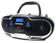 Supersonic Portable Boombox Cd/cassette Player Mp3/tape Am/fm Radio 2012